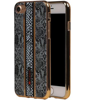 M-Cases Zwart Slang Design TPU back case hoesje voor Apple iPhone 7