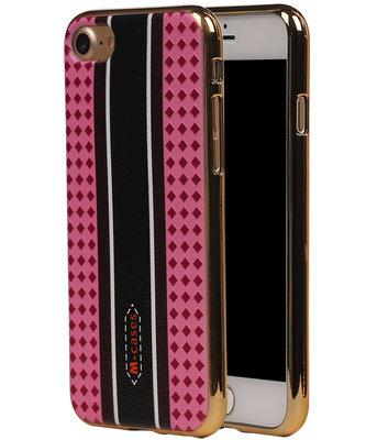 M-Cases Roze Ruit Design TPU back case hoesje voor Apple iPhone 7