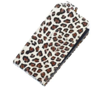 Bruin Luipaard Classic flip case hoesje voor Apple iPhone 4 / 4S