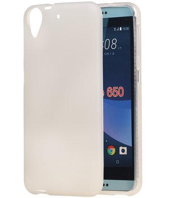 HTC Desire 650 TPU back case hoesje transparant Wit