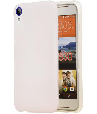 HTC Desire 830 TPU back case hoesje transparant Wit
