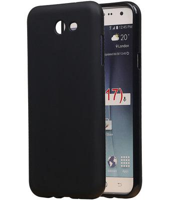 Samsung Galaxy J7 2017 TPU back case hoesje Zwart