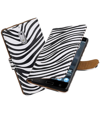 Nokia 6 Zebra booktype hoesje